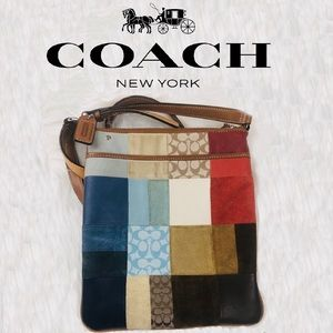 Coach patchwork small crossbody tote